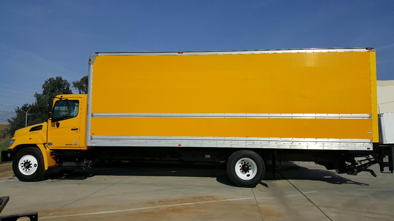 2012 Hino 268a 26ft Van Body Ry Den Truck Center