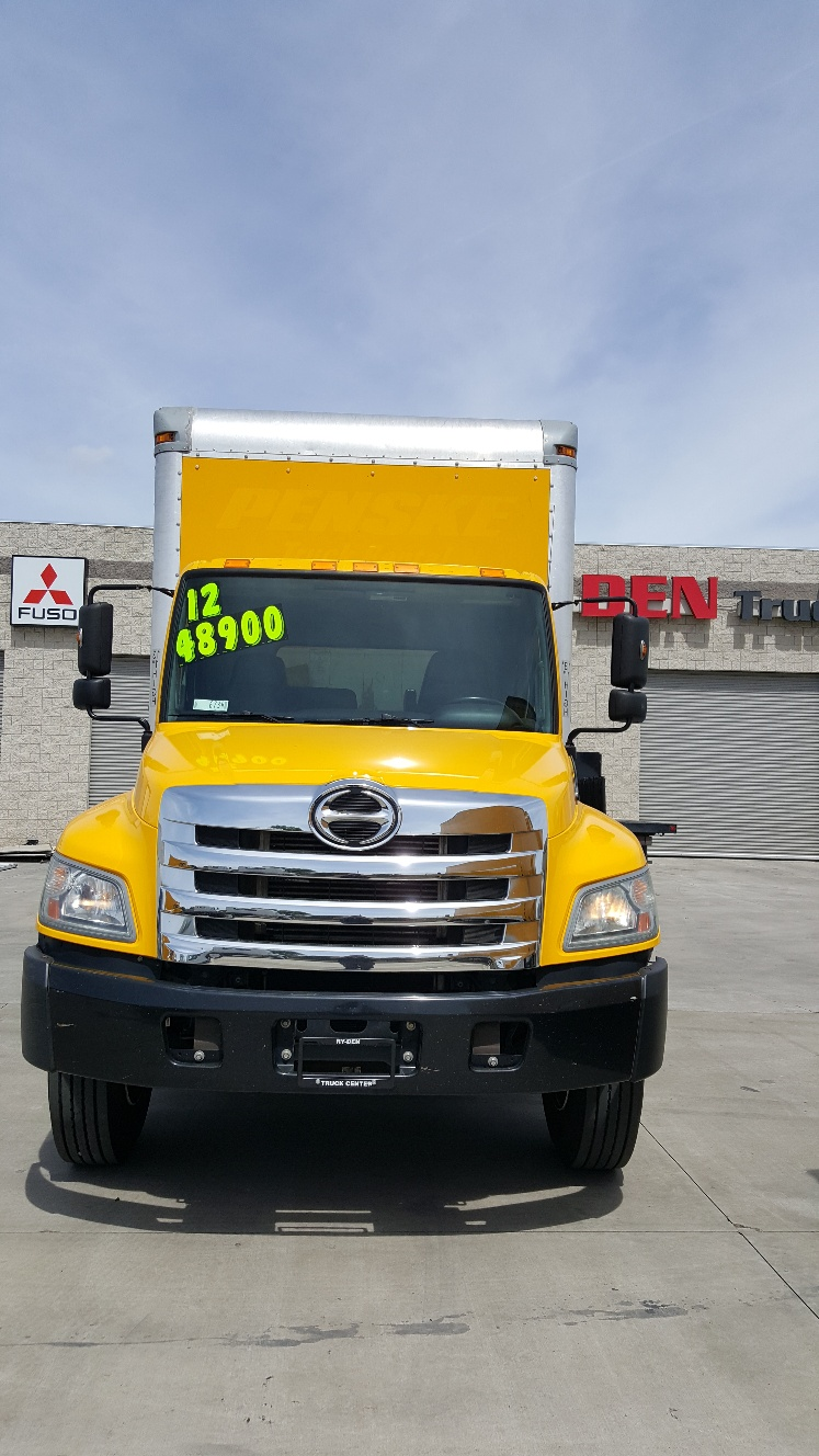 2012 Hino 268a 26ft Van Body Ry Den Truck Center